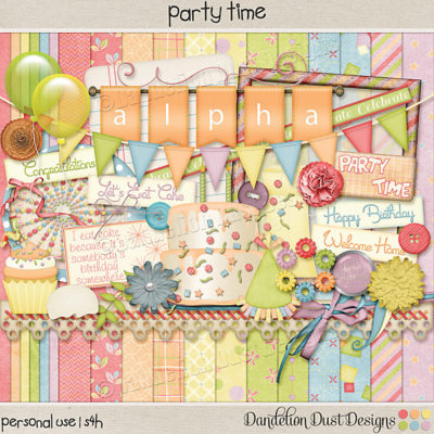 Party Time Digital Scrapbook Kit