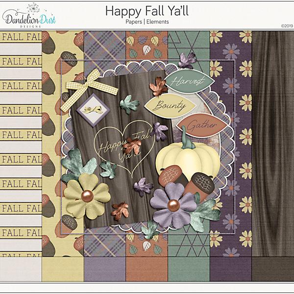Happy Fall Ya'll Digital Scrapbook Kit
