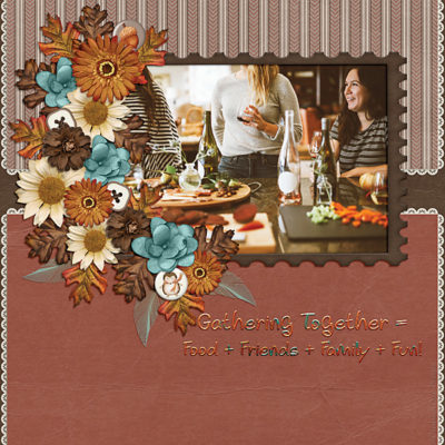 Gathering Together Digital Scrapbook Kit