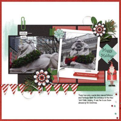 Candy Cane Lane Digital Scrapbook Kit