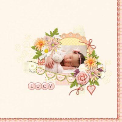 For The Girls Digital Scrapbook Kit