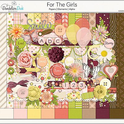 For The Girls Digital Scrapbook Collection