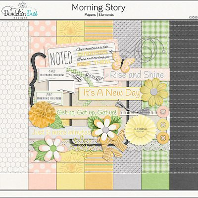 Morning Story Digital Scrapbook Collection
