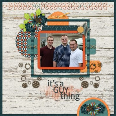 For The Boys Digital Scrapbook Collection