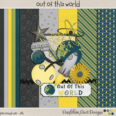 Out Of This World Digital Scrapbook Kit
