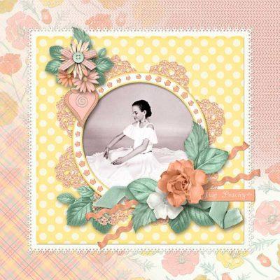 Just Peachy Digital Scrapbook Kit