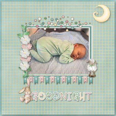 Goodnight Digital Scrapbook Kit
