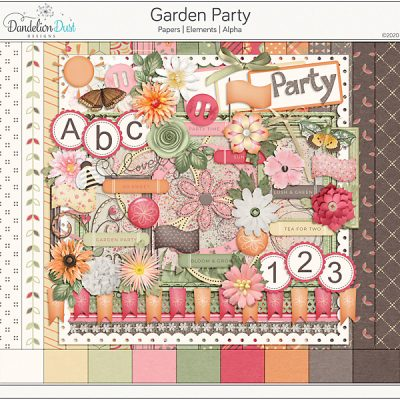 Garden Party Digital Scrapbook Kit