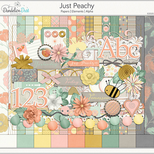 Just Peachy Digital Scrapbook Collection