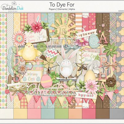 To Dye For Digital Scrapbook Collection