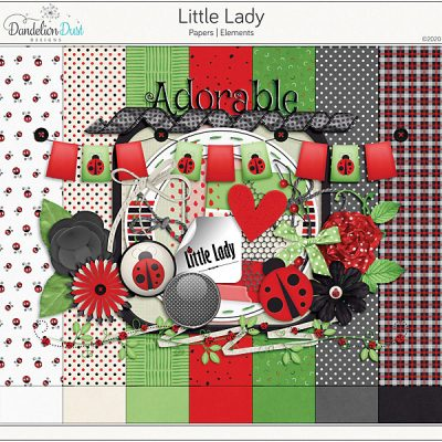 Little Lady Digital Scrapbook Collection