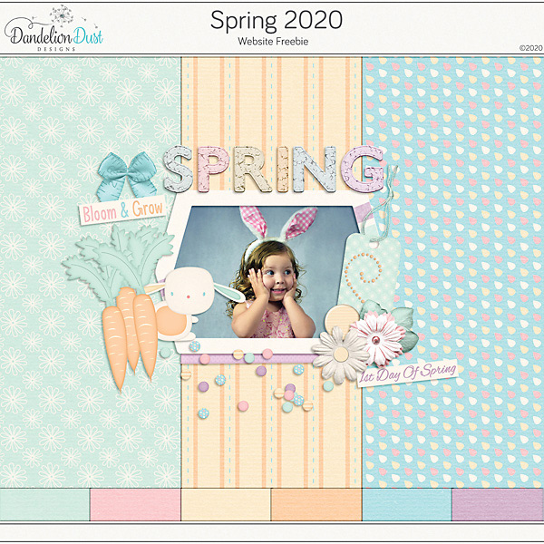 Spring 2020 Digital Scrapbook Kit