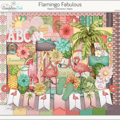 Flamingo Fabulous Digital Scrapbook Kit