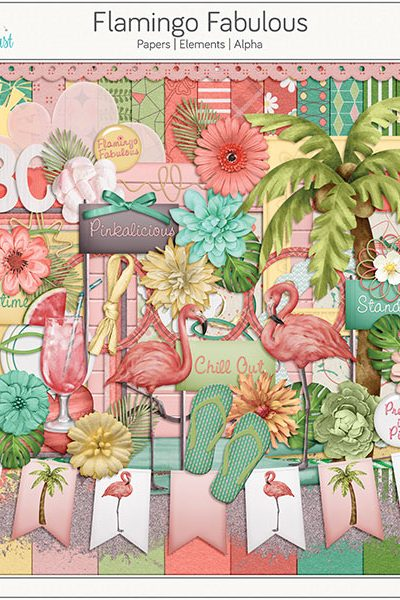 Flamingo Fabulous Digital Scrapbook Collection
