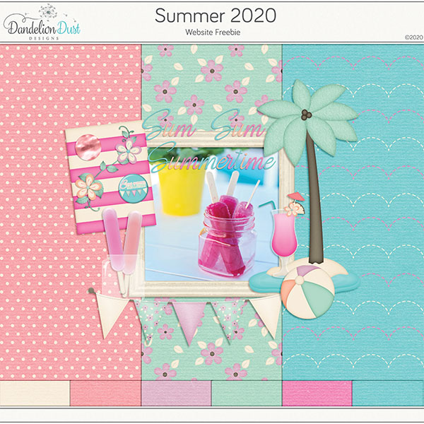 Summer 2020 Digital Scrapbook Kit