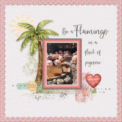 Flamingo Fabulous Digital Scrapbook Collection