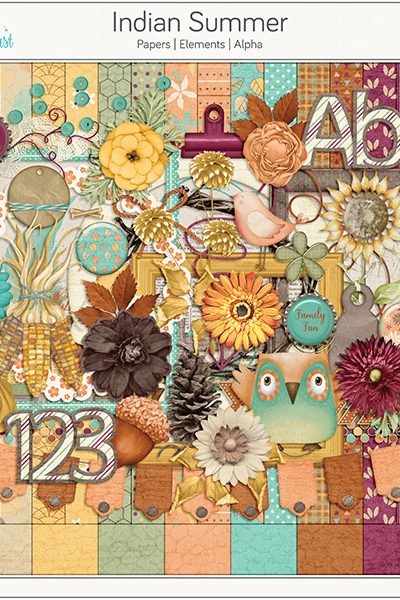 Indian Summer Digital Scrapbook Kit