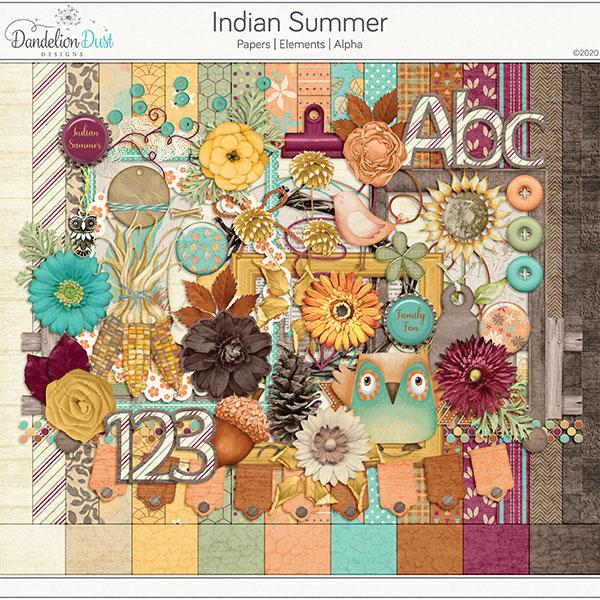 Indian Summer Digital Scrapbook Kit