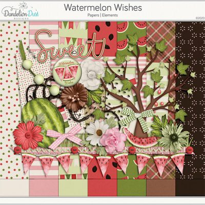 Watermelon Wishes Digital Scrapbook Kit