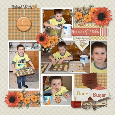 Fall Baking Digital Scrapbook Collection