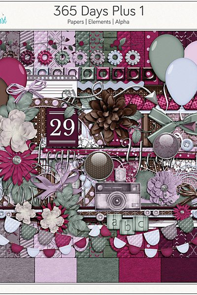 365 Days Plus 1 Digital Scrapbook Collection