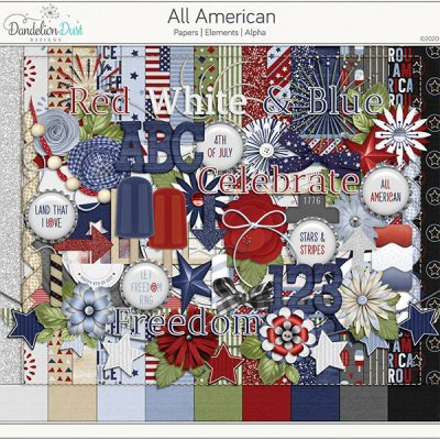 All American Digital Scrapbook Collection