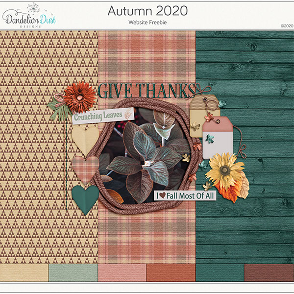 Autumn 2020 Digital Scrapbook Collection
