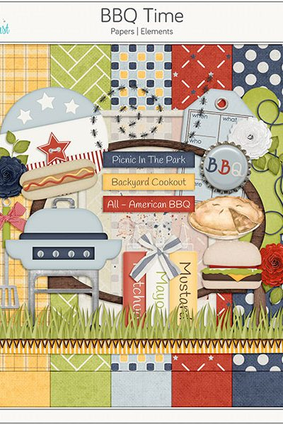 BBQ Time Digital Scrapbook Collection
