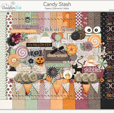 Candy Stash Digital Scrapbook Collection