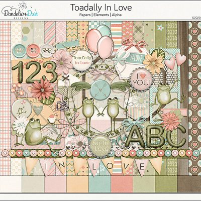 Toadally In Love Digital Scrapbook Collection