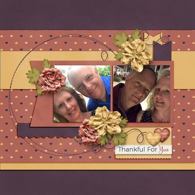 Thankful Hearts Digital Scrapbook Collection