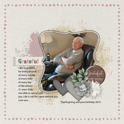 Always Be Grateful Digital Scrapbook Collection