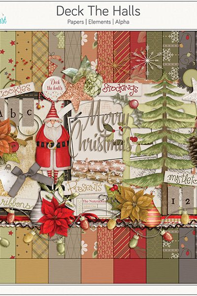 Deck The Halls Digital Scrapbook Collection