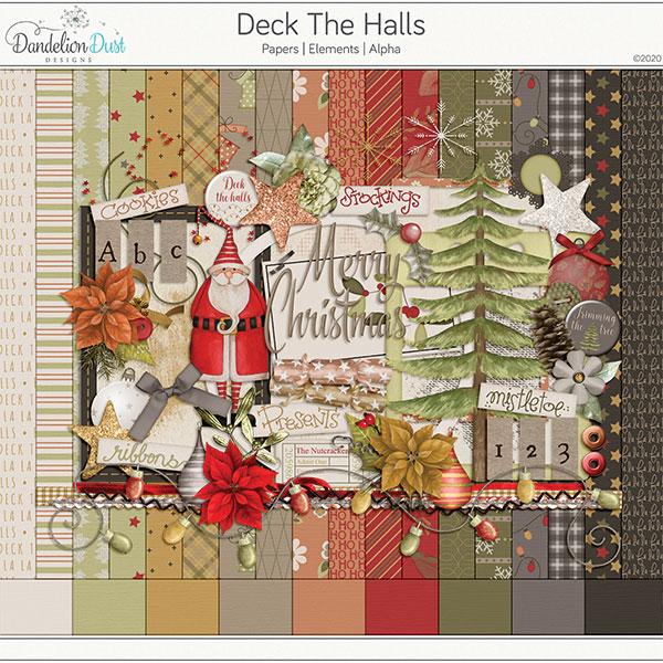 Deck The Halls Digital Scrapbook Collection