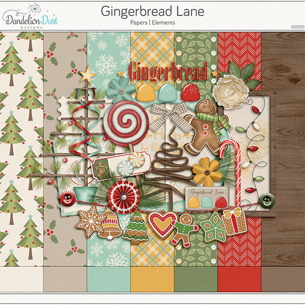 Gingerbread Lane Digital Scrapbook Collection