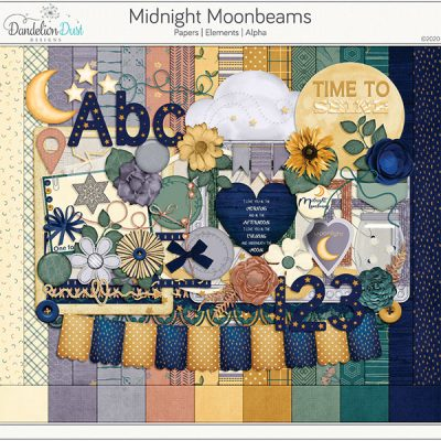 Midnight Moonbeams Digital Scrapbook Collection