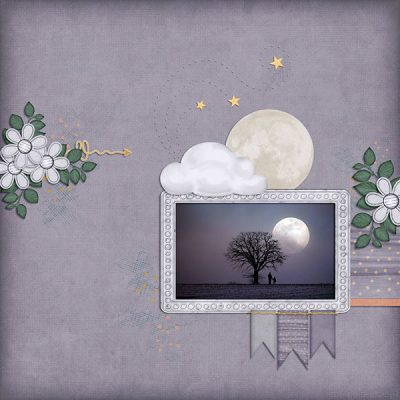 Midnight Moonbeams Digital Scrapbook Collection