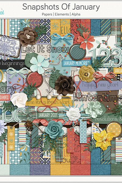 Snapshots Of January Digital Scrapbook Collection