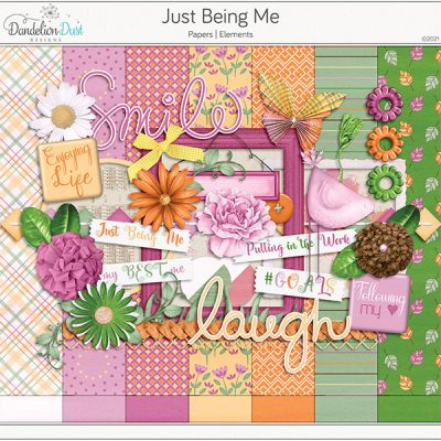 Just Being Me Digital Scrapbook Collection