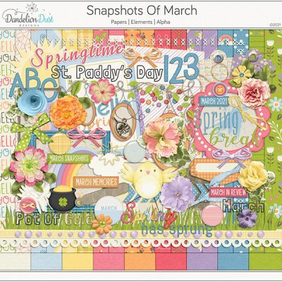 Snapshots Of March Digital Scrapbook Collection