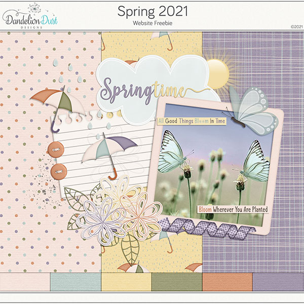 Spring 2021 Digital Scrapbook Collection