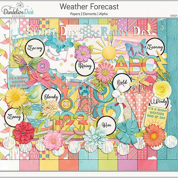 Weather Forecast Digital Scrapbook Collection