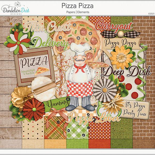 Pizza Pizza Digital Scrapbook Collection