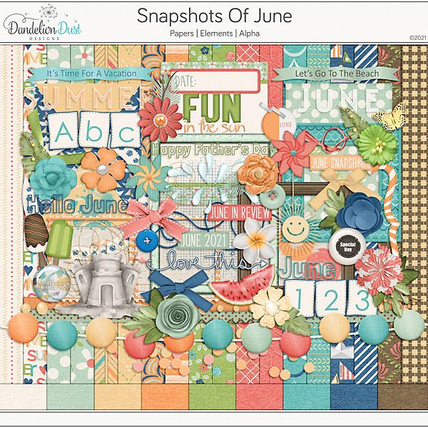 Snapshots Of June Digital Scrapbook Collection