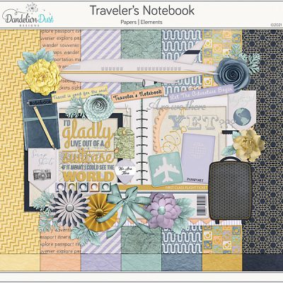 Travelers Notebook Digital Scrapbook Collection