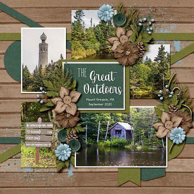 Summer Camp Digital Scrapbook Collection