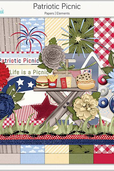 Patriotic Picnic Digital Scrapbook Collection