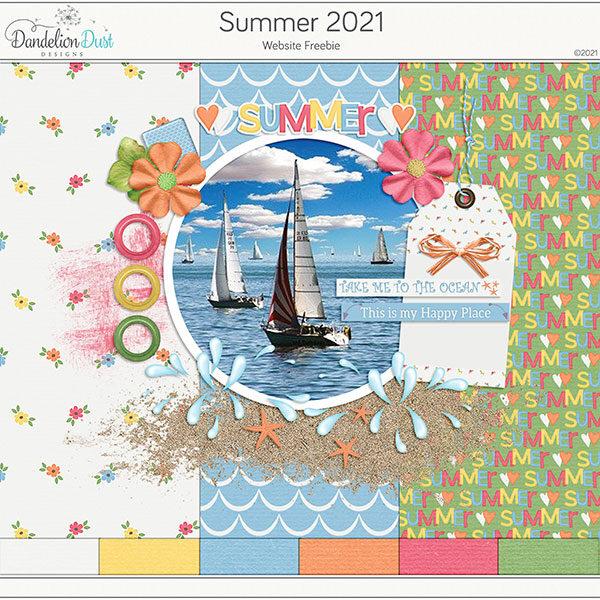 Summer 2021 Digital Scrapbook Collection