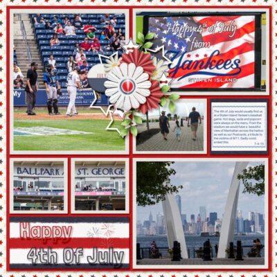 Snapshots Of July Digital Scrapbook Collection