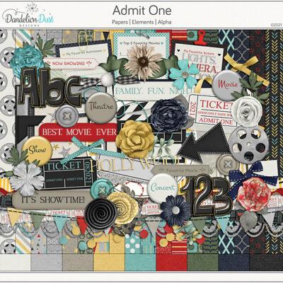 Admit One Digital Scrapbook Collection